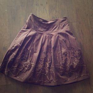Size m brown skirt women's